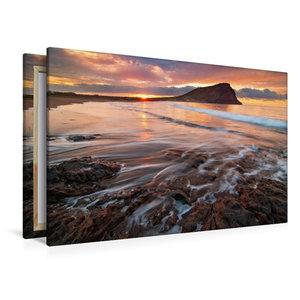 Premium Textil-Leinwand 120 cm x 80 cm quer Tejita Sunrise