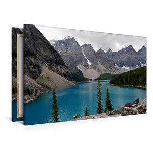 Premium Textil-Leinwand 120 cm x 80 cm quer Moraine Lake, Kanada