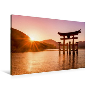 Premium Textil-Leinwand 90 cm x 60 cm quer Itsukushima Schrein i