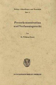 Pressekonzentration und Verfassungsrecht