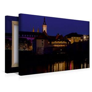 Premium Textil-Leinwand 45 cm x 30 cm quer Alte Mainmühle Würzbu