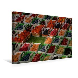 Premium Textil-Leinwand 45 cm x 30 cm quer Beeren