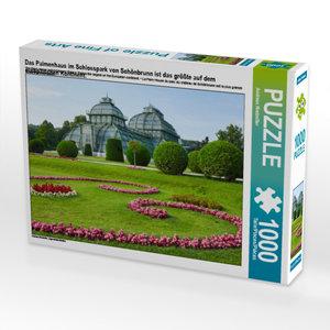 CALVENDO Puzzle Das Palmenhaus im Schlosspark von Schönbrunn ist