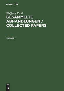 Krull, Wolfgang; Ribenboim, Paulo: Gesammelte Abhandlungen / Col