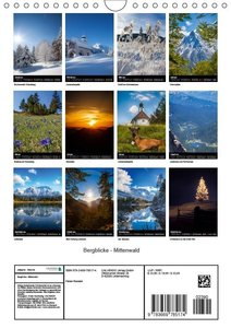 Bergblicke - Mittenwald (Wandkalender 2019 DIN A4 hoch)