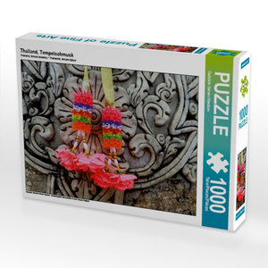 Thailand, Tempelschmuck 1000 Teile Puzzle quer