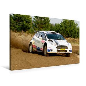 Premium Textil-Leinwand 75 cm x 50 cm quer Ford Fiesta R5