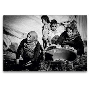Premium Textil-Leinwand 120 cm x 80 cm quer Syrische Frauen