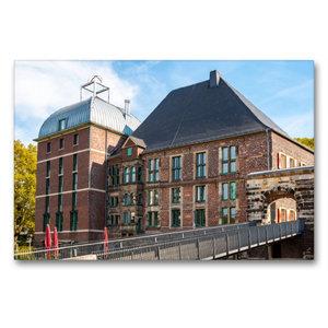 Premium Textil-Leinwand 90 cm x 60 cm quer Schloss Horst im glei