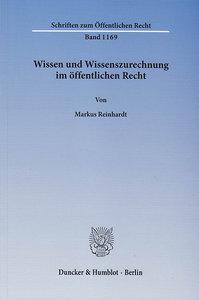 Wissen und Wissenszurechnung im öffentlichen Recht