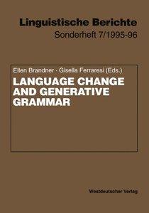 Language Change and Generative Grammar