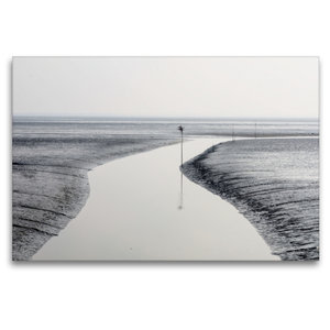 Premium Textil-Leinwand 120 cm x 80 cm quer Das Stille Watt