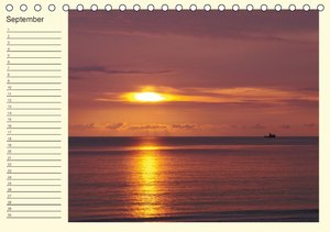 Colours by the sea / Birthday Calendar / UK-Version (Table Calen