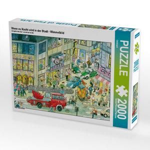 CALVENDO Puzzle Wenn es Nacht wird in der Stadt - Wimmelbild 200