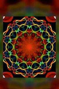 Premium Textil-Leinwand 30 cm x 45 cm hoch Mandala - Liebesglück