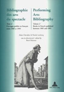 Bibliographie des arts du spectacle- Performing Arts Bibliograph