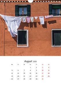 Dai Colori Vivaci - Fenster Italiens (Wandkalender 2019 DIN A4 h