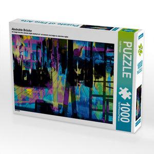 Abstrakte Brücke 1000 Teile Puzzle quer