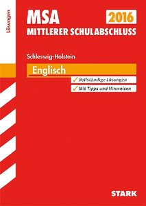 Training Englisch Lösungen Mittlerer Schulabschluss Schleswig-Ho