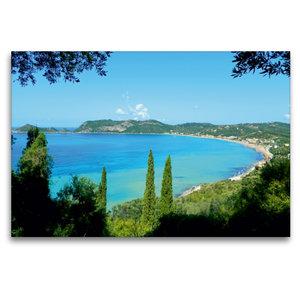 Premium Textil-Leinwand 120 cm x 80 cm quer Bucht von Ágios Geór