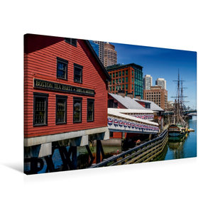 Premium Textil-Leinwand 75 cm x 50 cm quer Boston Tea Party Muse