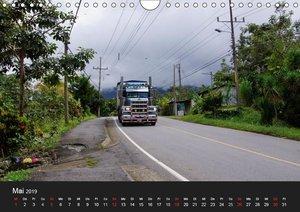 Trucks zwischen Panama und Costa Rica. (Wandkalender 2019 DIN A4