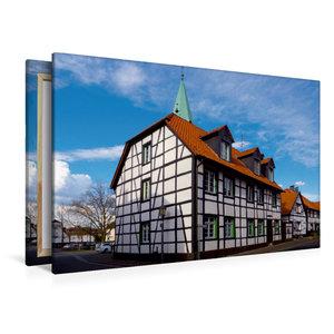 Premium Textil-Leinwand 120 cm x 80 cm quer Klassisches Fachwerk