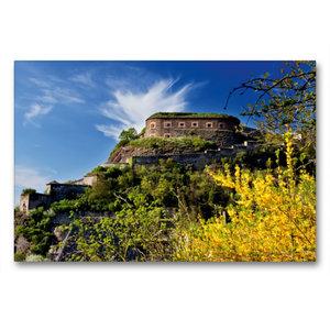 Premium Textil-Leinwand 90 cm x 60 cm quer Festung Ehrenbreitste