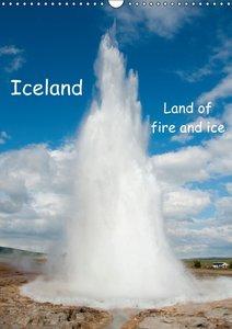 Iceland / UK-Version (Wall Calendar 2015 DIN A3 Portrait)