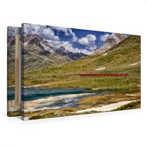 Premium Textil-Leinwand 75 cm x 50 cm quer Der rote Zug