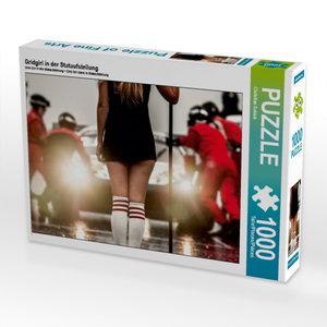 Gridgirl in der Stataufstellung 1000 Teile Puzzle quer