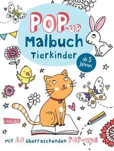 Pop-Up-Malbuch: Tierkinder