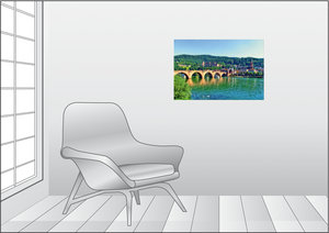 Premium Textil-Leinwand 75 cm x 50 cm quer Schloss Heidelberg un