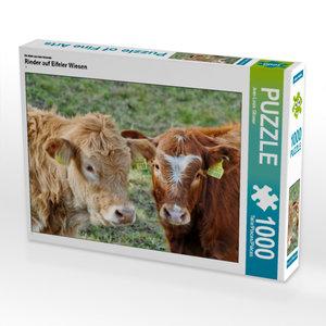 CALVENDO Puzzle Rinder auf Eifeler Wiesen 1000 Teile Lege-Größe
