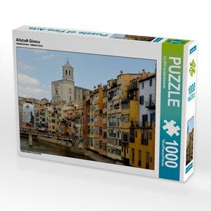 Altstadt Girona 1000 Teile Puzzle quer