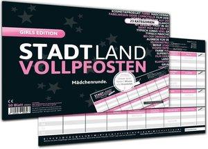 """STADT LAND VOLLPFOSTEN® - GIRLS EDITION \""""Mädchenrunde\"""""""