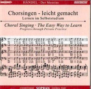 Der Messias HWV 56, Chorstimme Sopran, 2 Audio-CDs