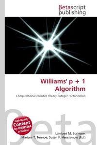 Williams\' p + 1 Algorithm