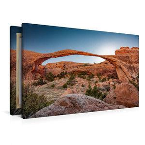 Premium Textil-Leinwand 90 cm x 60 cm quer Landscape Arch in Arc