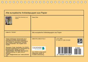 Alte europäische Ankleidepuppen aus Papier