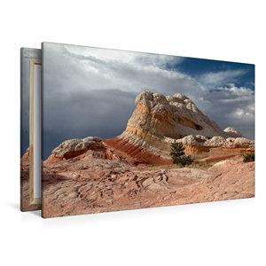 Premium Textil-Leinwand 120 cm x 80 cm quer Lollipop Rock, White
