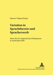 Variation in Sprachtheorie und Spracherwerb