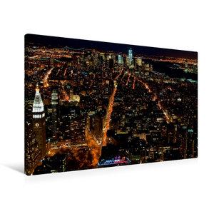Premium Textil-Leinwand 90 cm x 60 cm quer Manhattan South / New