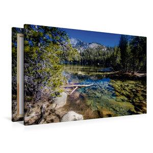 Premium Textil-Leinwand 120 cm x 80 cm quer Tenaya Lake, Yosemit
