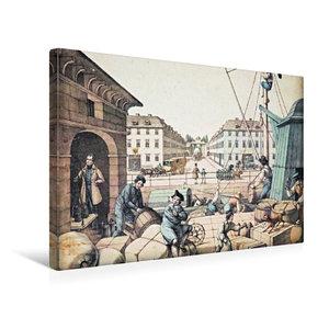 Premium Textil-Leinwand 45 cm x 30 cm quer Packhof (Handel/Verke