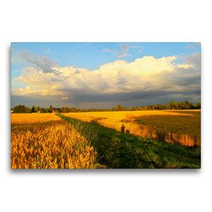 Premium Textil-Leinwand 75 cm x 50 cm quer Wolkenspiel - Gewitte