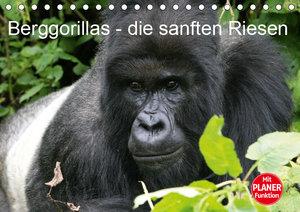 Berggorillas - die sanften Riesen (Tischkalender 2019 DIN A5 que