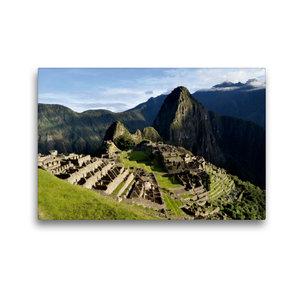 Premium Textil-Leinwand 45 cm x 30 cm quer Machu Picchu - Die In