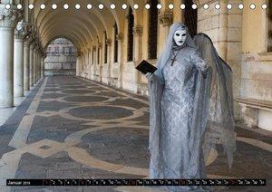Venedig - Bühne der Masken (Tischkalender 2019 DIN A5 quer)