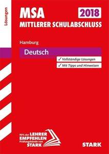 Mittlerer Schulabschluss Hamburg 2018 - Deutsch Lösungen